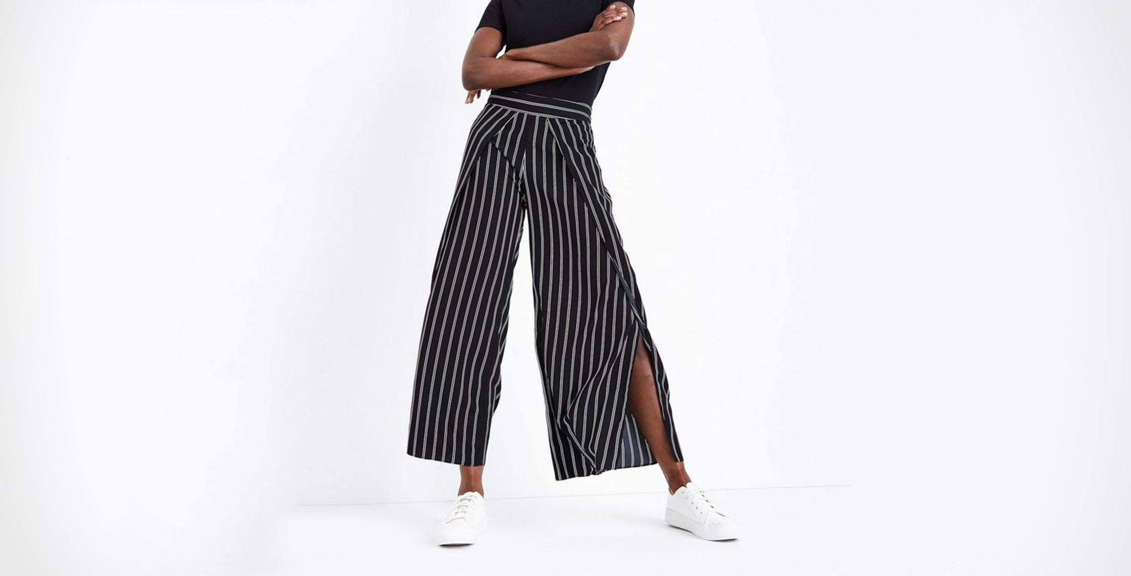 Trending: wide leg trousers
