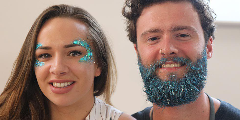 Get shimmery with our festival glitter tutorial