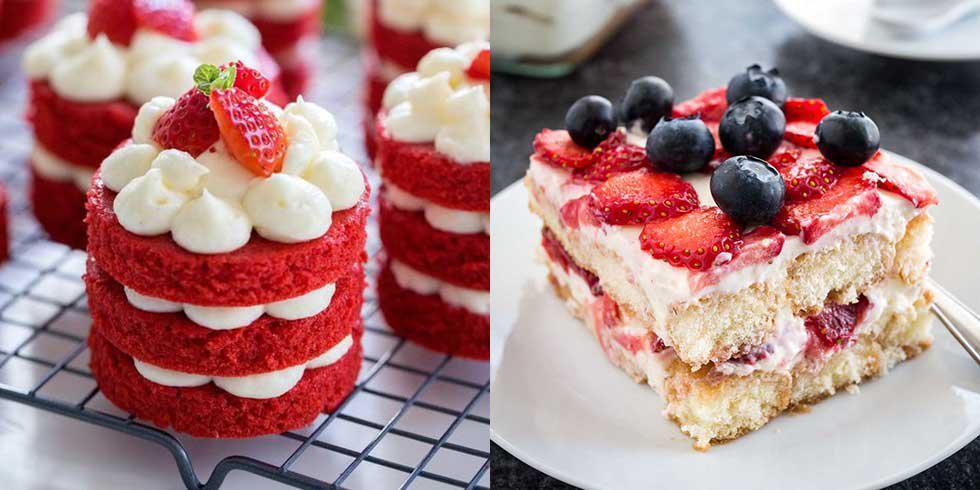 6 succulents desserts à la fraise