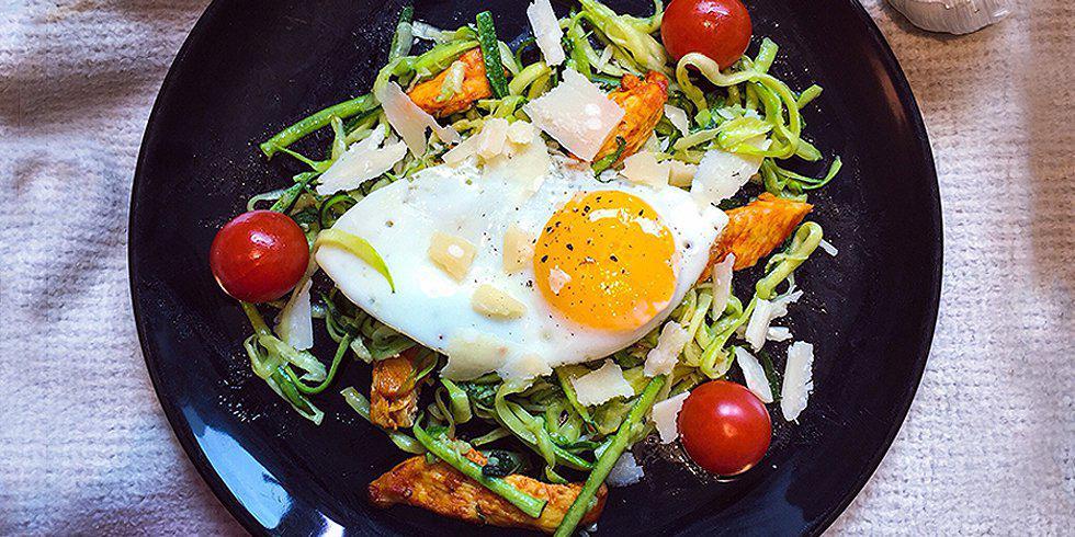 Healthy Italian Zucchini Spaghetti
