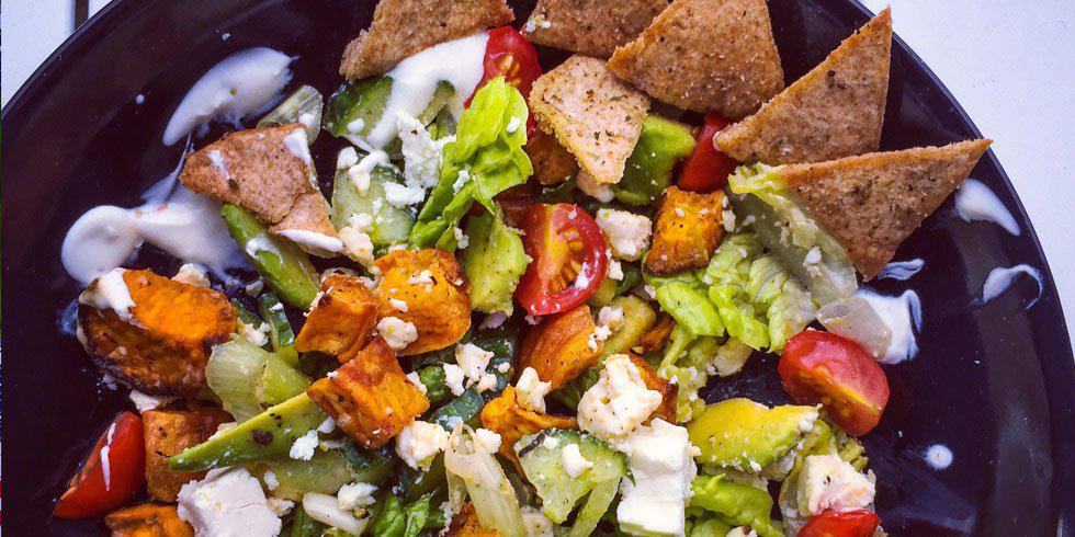 'Fridge Raider Sweet Potato Salad