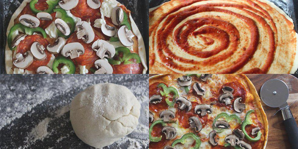 Nearly no-knead pizza!