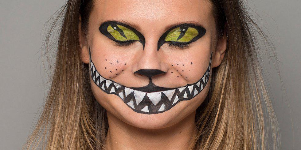 Halloween cat make-up tutorial