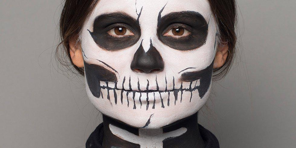 Halloween skeleton make-up tutorial