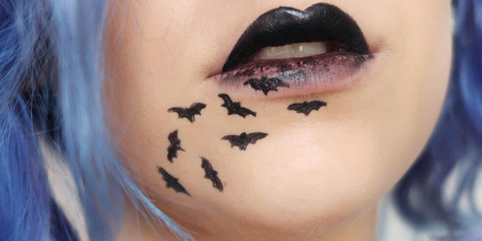 DIY bat Halloween costume and makeup